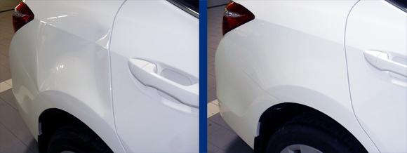 Автомобиль после ремонта вмятин без покраски