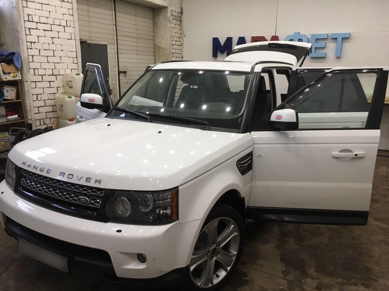 Детейлинг салона на Range Rover