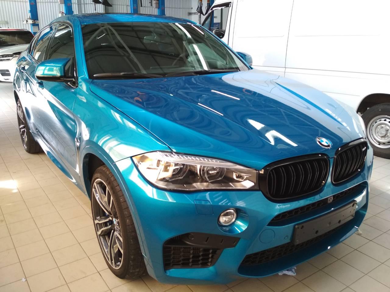 Детейлинг изумрудного BMW X6