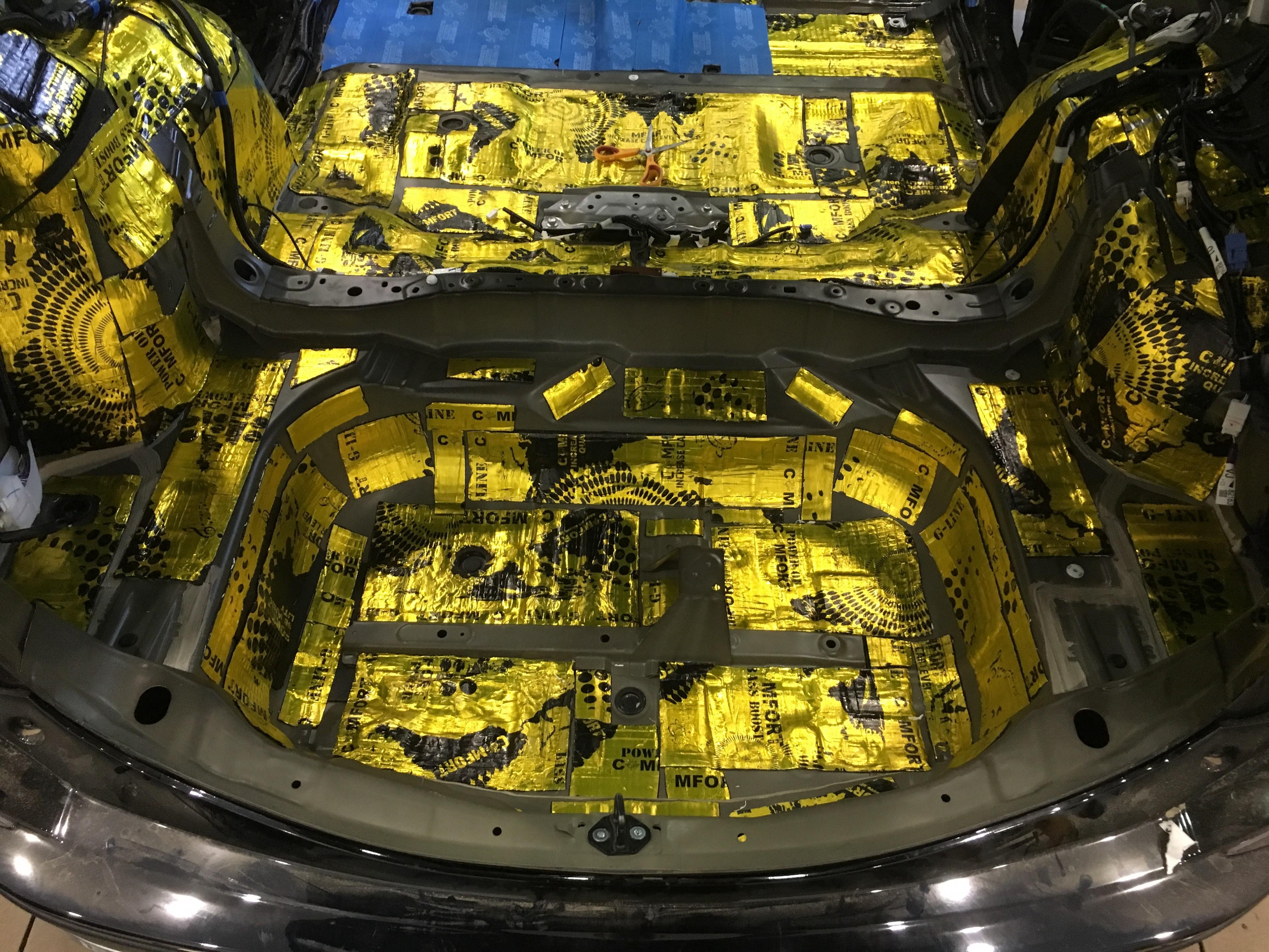 Комплексная шумоизоляция Toyota RAV4