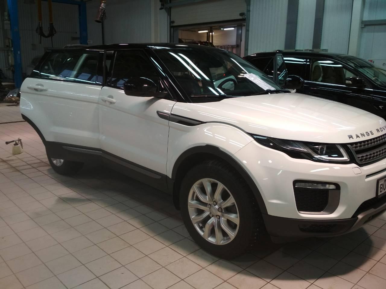 Очистка кузова Range Rover Evoque