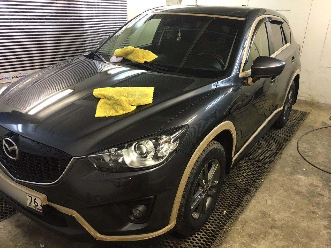 Полировка и нанокерамика Mazda